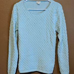 J. crew baby blue knit sweater
